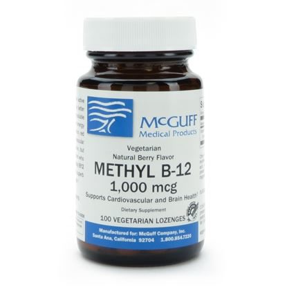 Methyl B-12  Lozenge  Natural Berry  Vegetarian  1,000mcg  100/Btl