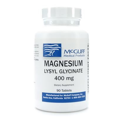 Magnesium Lysyl-Glycinate (Amino Acid Chelate) 400mg  Tablets  90/Bottle