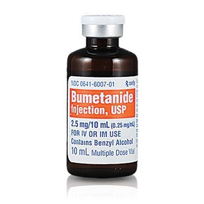Bumetanide, 0.25mg/mL, MDV, 10mL, 10 Vials/Tray