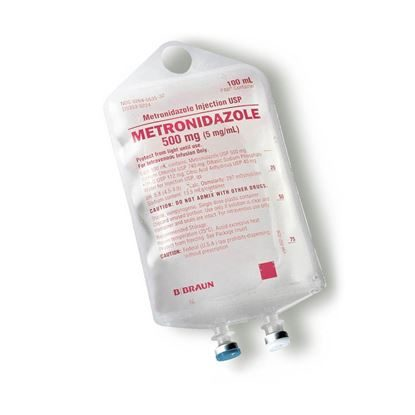 IV Solution, Metronidazole, Metro-IV, 500mg, PAB®, 100mL, 4 Bags/Box