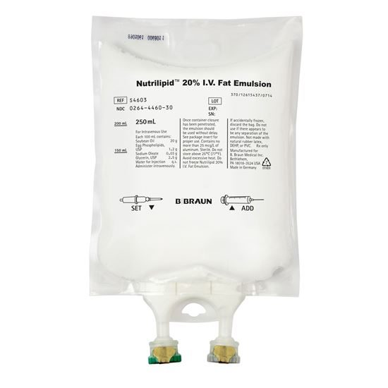 Fat Emulsion IV 20 250mLBags SD Nutrilipid  NonPVCDEHP  12Case