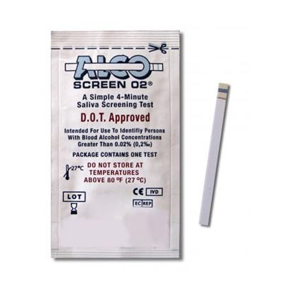 Drug Test, Saliva, Alcohol Test for Zero Tolerance Testing, Alco-Screen 02® , 24/Box