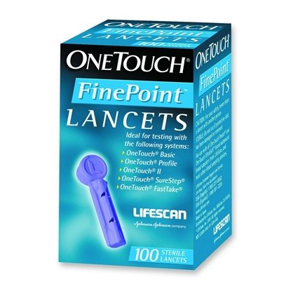 Lancet, OneTouch® FinePoint™, 100/Box  *Discontinued*