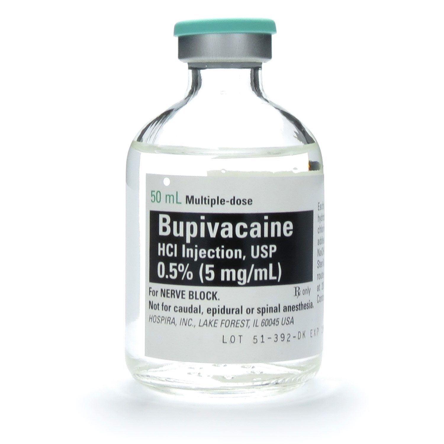 Bupivacaine, 0.5%, 5mg/mL, MDV, 50mL/Vial | McGuff Medical