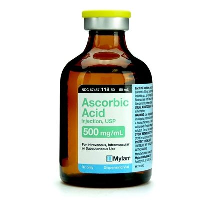 Ascorbic Acid Injection USP 500mgmL SDV 50mL Vial