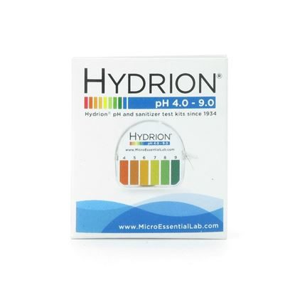 "pH Indicator Paper, with  Dispenser, Hydrion 1pH  4.0 - 9.0,  0.25""x15' Roll"