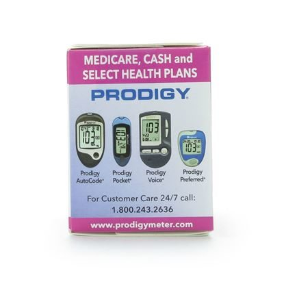 Prodigy No-Code Test Strips,  Blood Glucose   50/Box