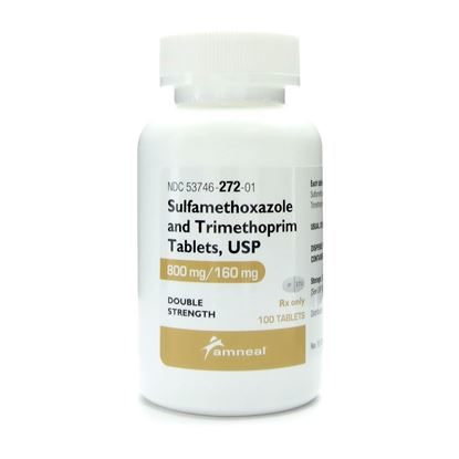 Sulfamethoxazole/Tmp Ds, 800/160mg, 100 Tablets/Bottle