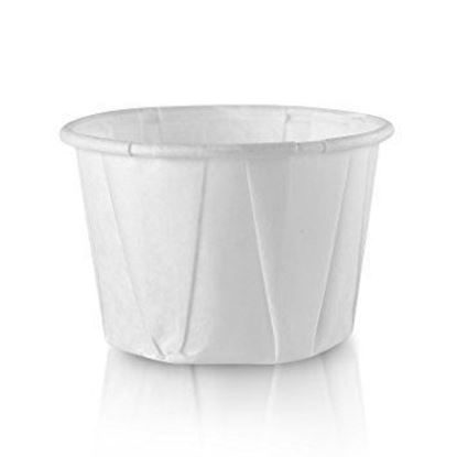 Cups, Portion 3/4 ounce, White Paper, 250/Pack