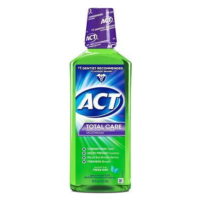 ACT Total Care Oral Rinse,  Alcohol Free,  Fresh Mint   18 ounce
