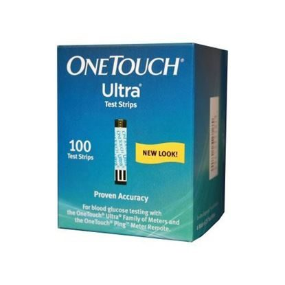 Blood Test, OneTouch® Ultra® Test Strips, 100/Box