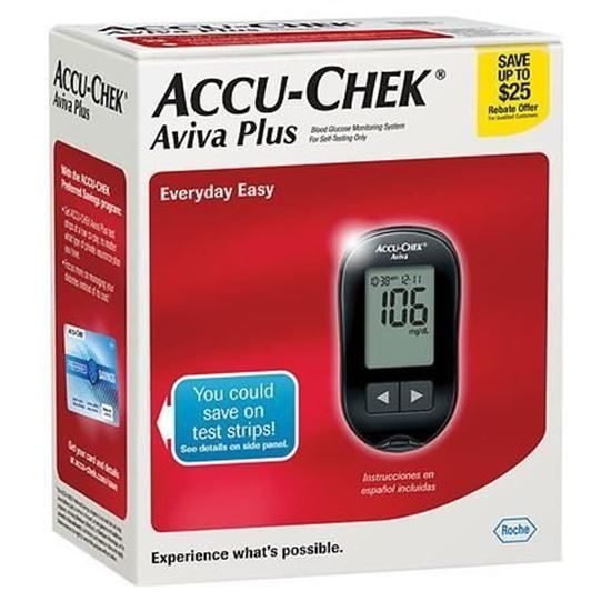 Blood Glucose Meter, ACCU-CHEK® Aviva Plus, w/Softclix device ...