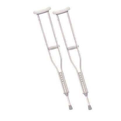 "Crutches, Aluminum   Adult   1"" Adjustable,  1 Pair/Box"