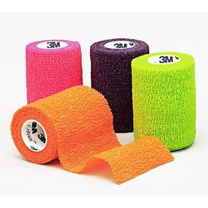 "Bandage, Coban™ 3"" x 5 yards, Self-Adherent, Neon Assorted 12/Case"