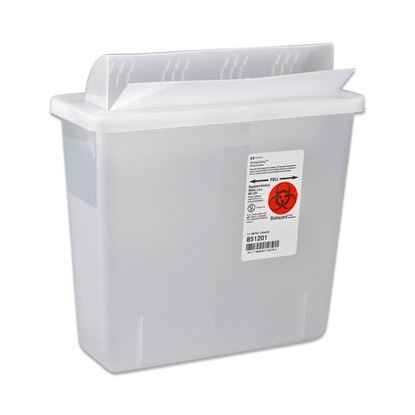 Sharps Collector,    5 Quart, In-Room, MailBox-Style Lid, In-Room™, Each