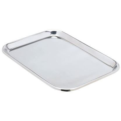 "Tray, Instrument Stainless Steel, 14"" x 10"" x 5/8"", Flat, Each"