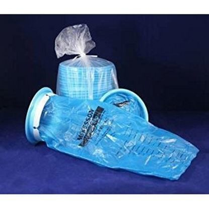 "Emesis Bag      1,000cc  Blue Plastic, 6.5""x12""  Twist Tie   24/Package"