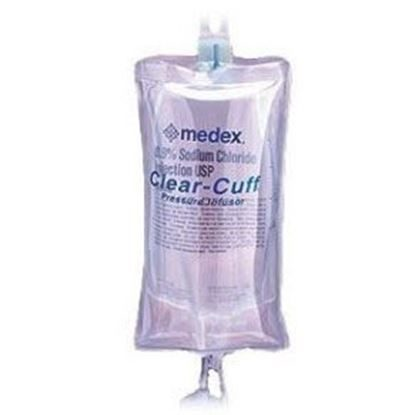 Clear-Cuff Pressure Infusor for IV bags,  250mL, Reusable, 10/Case