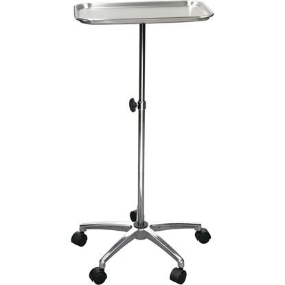 "Mayo Stand, Instrument, Mobile,  5 caster, Adjustable 29"" - 47"",  Each"