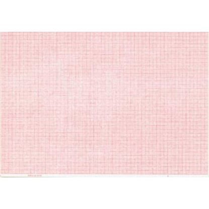EKG Chart Paper 280mm x 210mm,  Red, Fan-Fold  Thermo Sensitive, for all AT-2,  200/pack