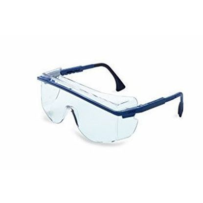 Eyewear Protective Blue Frame Clear Lens Cushioned Temple Style Uvextreme AntiFog Coating Astro OTG 3001 Each