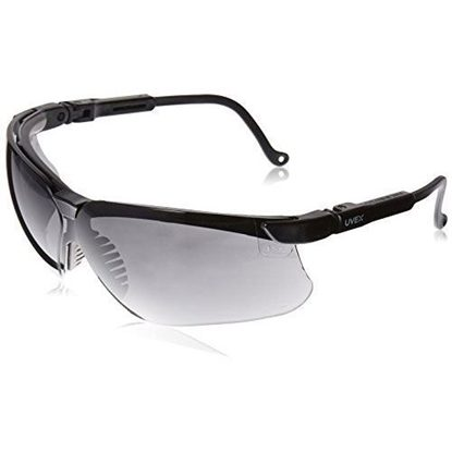 Eyewear, Protective, Black Frame, Dark Gray Lens, Wraparound Style, Uvextreme® Anti-Fog Coating, Genesis®, Each