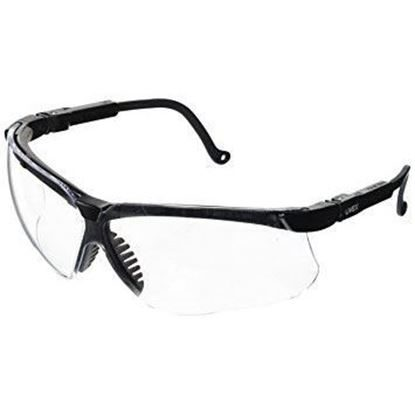Eyewear, Protective, Black Frame, Clear Lens, Wraparound Style, Ultra-dura® Hard Coat Coating, Genesis®, Each