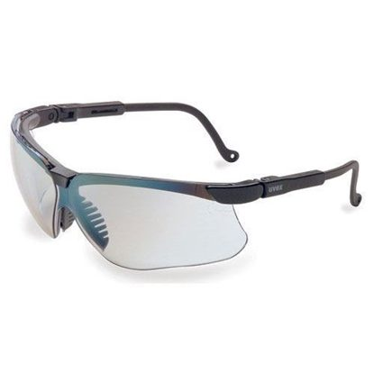 Eyewear, Protective, Black Frame, SCT® Reflect 50 Mirror Lens, Wraparound Style, Ultra-dura® Hard Coat Coating, Genesis®