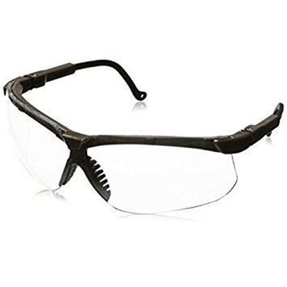 Eyewear, Protective, Earth Color Frame, Clear Lens, Wraparound Style, Ultra-dura® Hard Coat Coating, Genesis®, Each