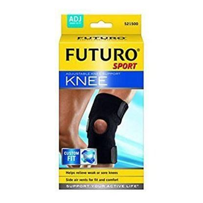 Knee Brace, Adjustable, Neoprene Black,  Each