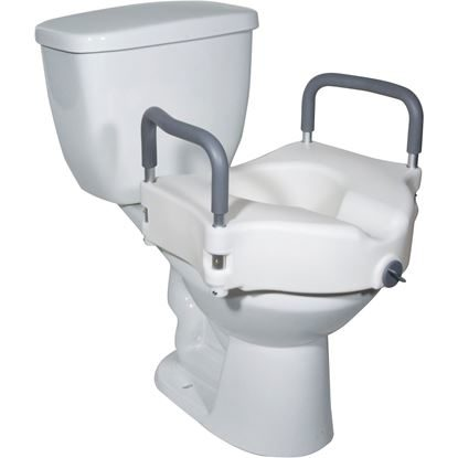 Toilet Seat, Elevated w/Arms  2 in 1 Locking  Each