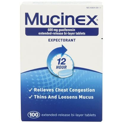 Mucinex  600mg, Extended Release Tablets  100/Box
