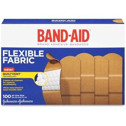 "Bandage, Strip Flexible Fabric, 1"" x 3"", Sterile, Band-Aid®, 100/Box"
