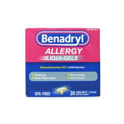 Benadryl® Allergy, 25mg, Unit-Dose, 24 Gelcaps/Box