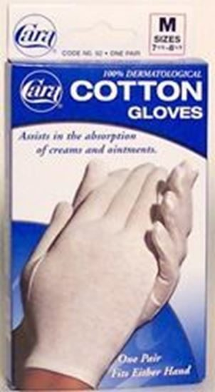 Glove Liner Cotton Medium 758 White 48Box