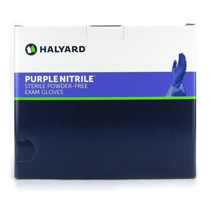 Gloves, Nitrile, Sterile, Powder-free, Purple, Suitable for Chemo, 50 Pairs/Box