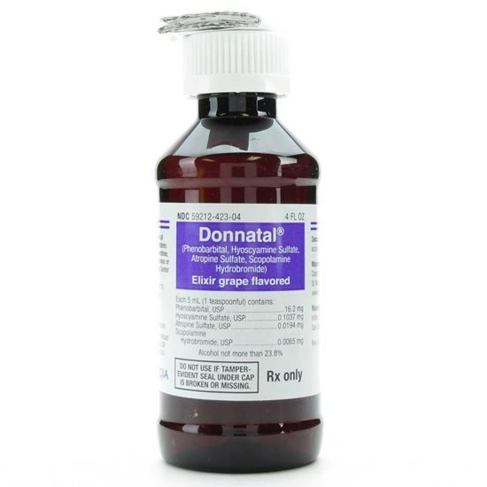 Donnatal Elixer Phenorbarbital USP 162mg5mL Grape 4 Ounce Bottle