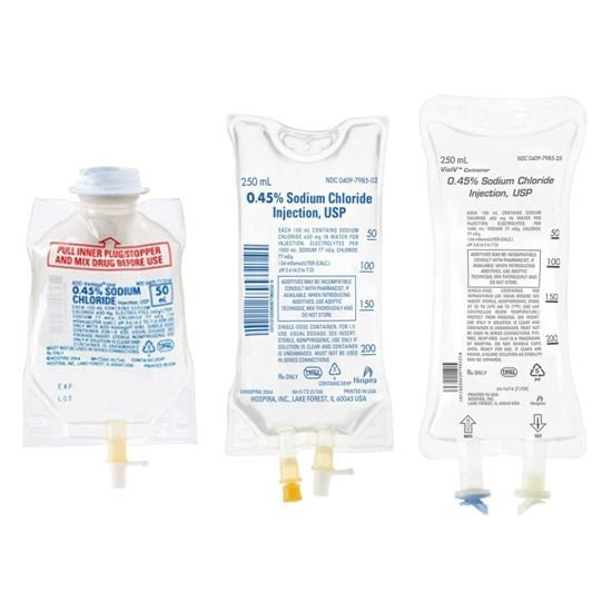 045 Sodium Chloride Hospira VisIV Flexible Bag No Latex PVC or DEHP