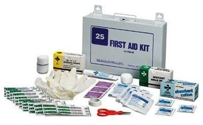 First Aid Kit, Weatherproof/Rustproof 175 piece, 25 person Each