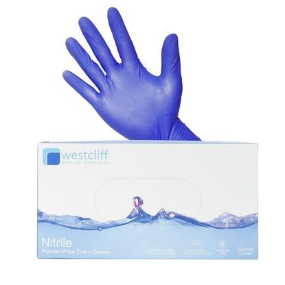 Exam Gloves, Nitrile, Powder-free, Blue, Westcliff, 200/Box