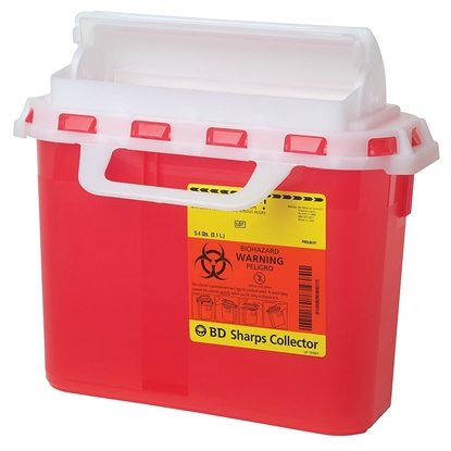 Sharps Collector,    5.4 Quart, RED, Guardian, Each