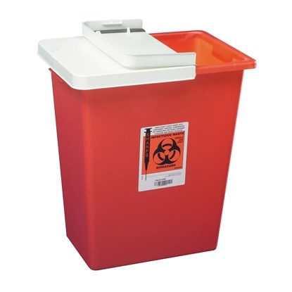 Sharps Collector,   8 Gallon, Hinged Lid, Each