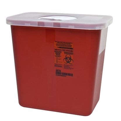 Sharps Collector,   2 Gallon, Rotor Lid, Each