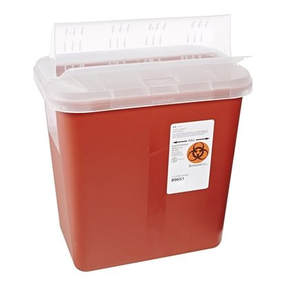 Sharps Collector,   2 Gallon, Red, Horizontal Entry, Each