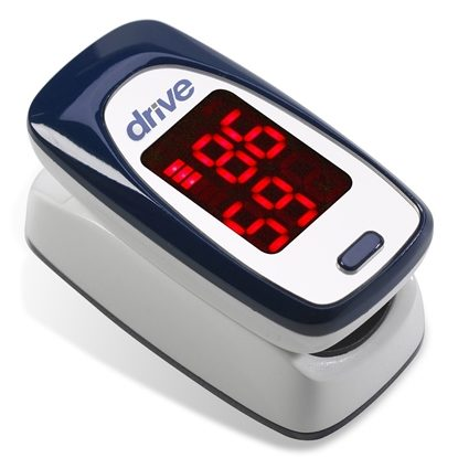 Pulse Oximeter, Finger, Battery operated, no alarm, Each