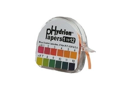 pH Indicator Strips, 1 to 12pH,   1 pH units, 15 ft,  Roll