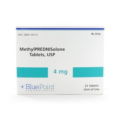 Methylprednisolone, 4mg, Dose-Pack, 21 Tablets/Box