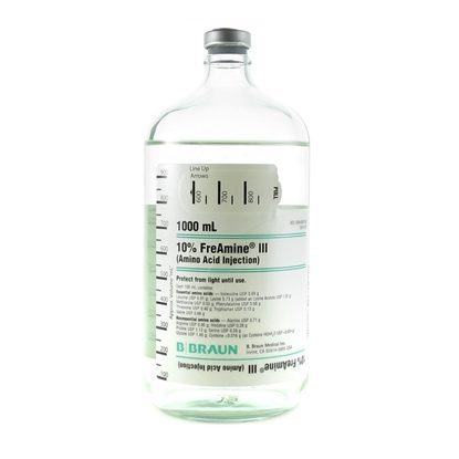 Amino Acid 10% Freamine, Glass 1,000mL, 6/Case