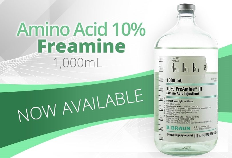 Amino Acid 10% Freamine 1000mL Now Available