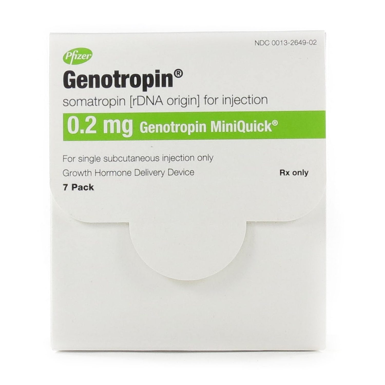 Genotropin Miniquick Hgh Human Growth Hormone 0 2mg Syringe 7 Each Mcguff Medical Products